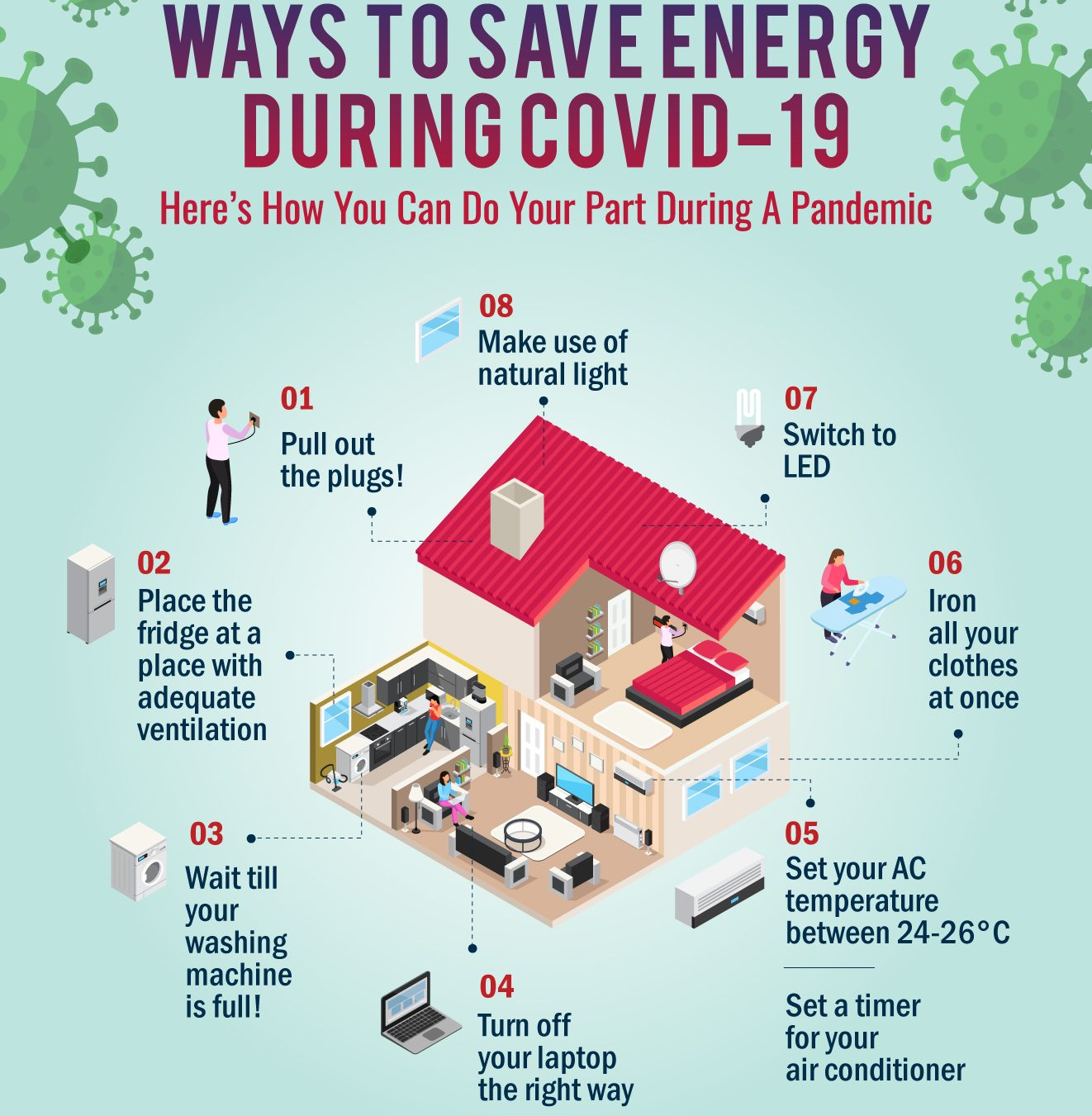 #stayathome tips to save energy during COVID-19 lockdown